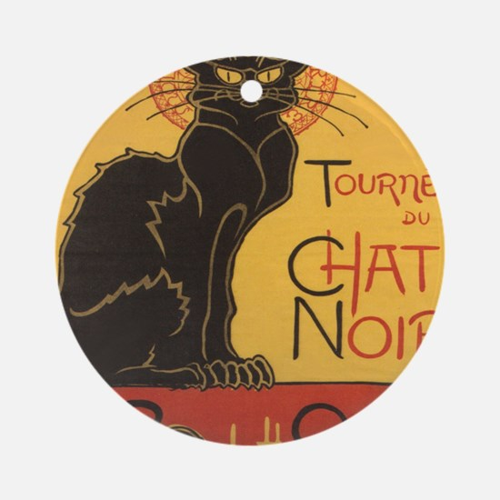 chatnoirposter Round Ornament