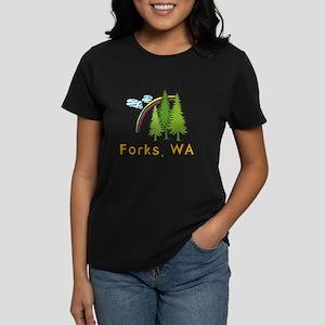 Forks Nowhere B Women's Dark T-Shirt
