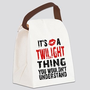 TwiThing Lips B Canvas Lunch Bag
