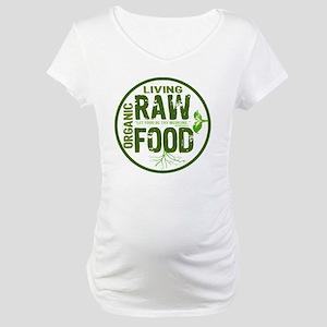 RAWFOODBUTTON2 Maternity T-Shirt