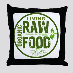 RAWFOODBUTTON2 Throw Pillow