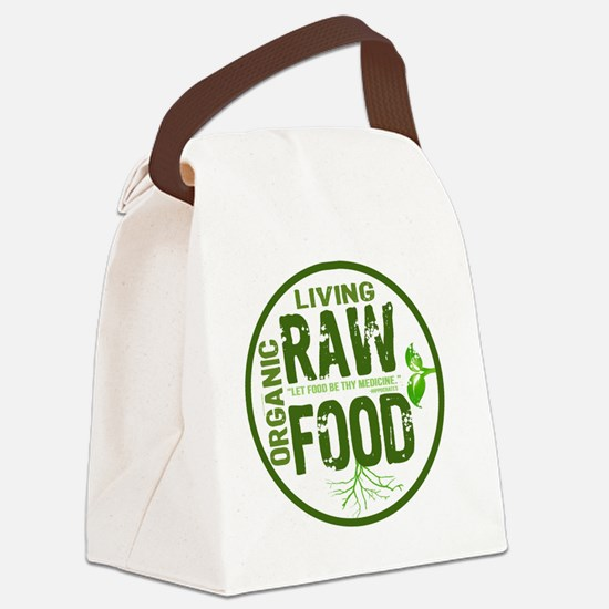 RAWFOODBUTTON2 Canvas Lunch Bag