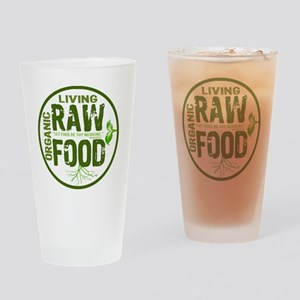 RAWFOODBUTTON2 Drinking Glass