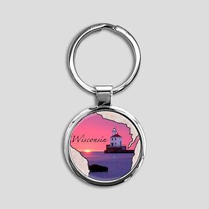 Wisconsin Round Keychain
