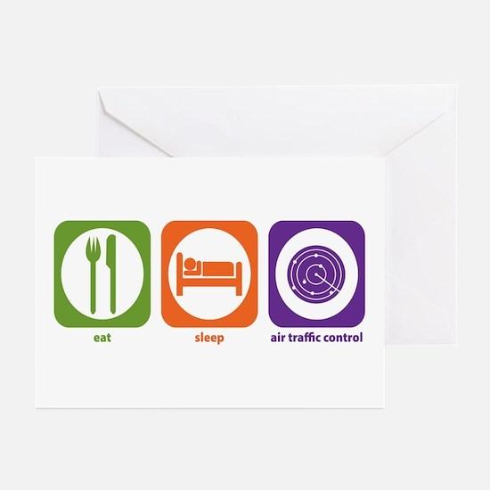 Eat Sleep Air Traffic Greeting Cards (Pk of 10