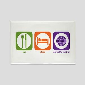Eat Sleep Air Traffic Rectangle Magnet