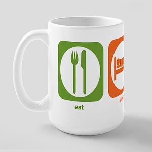 Eat Sleep Air Traffic Large Mug