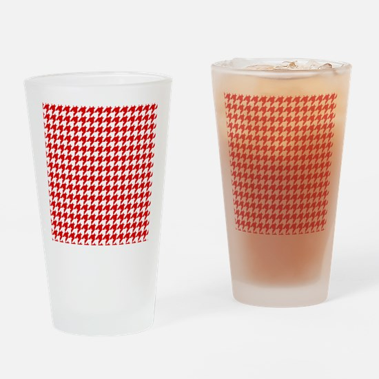 Houndstooth Red FF Drinking Glass