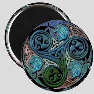 celticspiralwithblueman Magnet