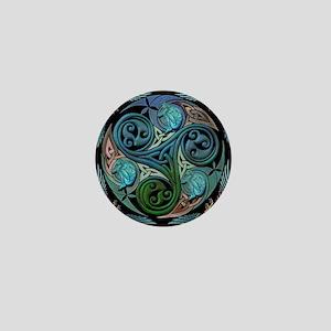 celticspiralwithblueman Mini Button
