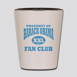Barack Obama xxl fan club 2012 light bl Shot Glass