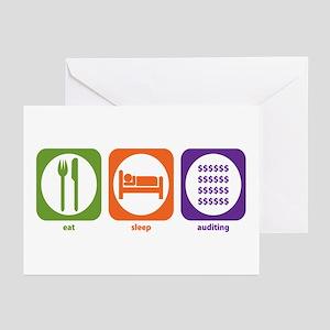 Eat Sleep Auditing Greeting Cards (Pk of 10)
