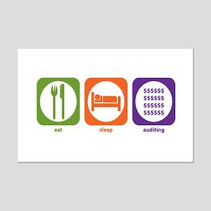 Eat Sleep Auditing Mini Poster Print