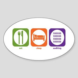 Eat Sleep Auditing Oval Sticker