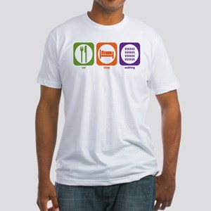 Eat Sleep Auditing Fitted T-Shirt