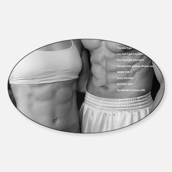 Fitness poster 2 Sticker (Oval)