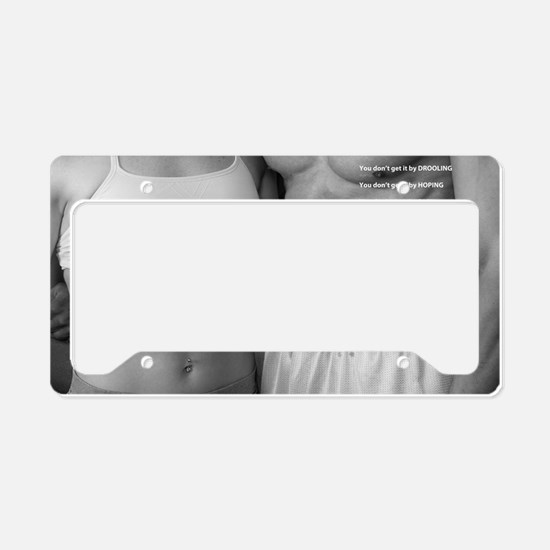 Fitness poster 2 License Plate Holder