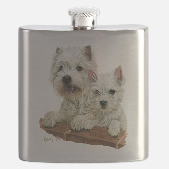 West Highland White Terrier Flask