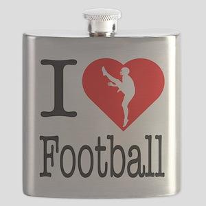 I-Heart-Ice-Football Flask