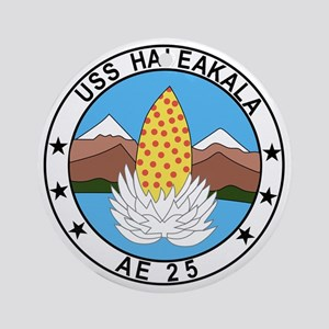 AE-25 USS Haleakala Ammunition Ship Round Ornament