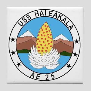 AE-25 USS Haleakala Ammunition Ship M Tile Coaster
