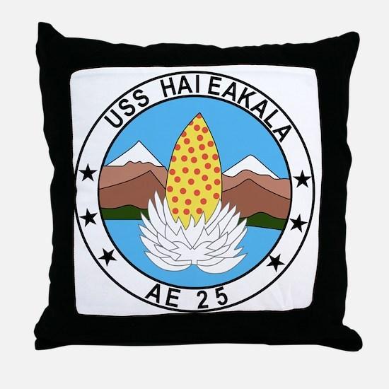 AE-25 USS Haleakala Ammunition Ship M Throw Pillow