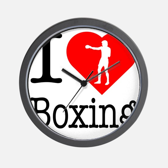 I-Heart-Boxing-Punch Wall Clock