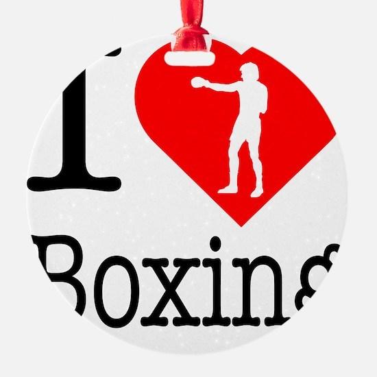 I-Heart-Boxing-Punch Ornament