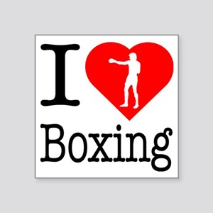 "I-Heart-Boxing-Punch Square Sticker 3"" x 3"""