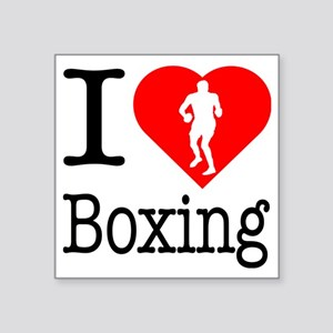 "I-Heart-Boxing Square Sticker 3"" x 3"""