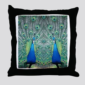 peacockflips Throw Pillow