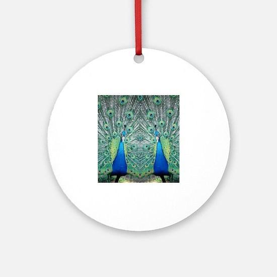 peacockflips Round Ornament