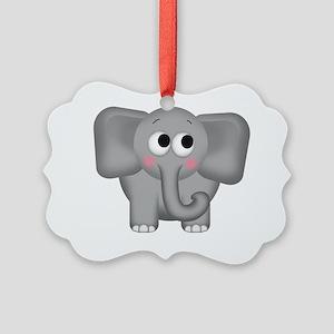 Adorable Elephant Picture Ornament