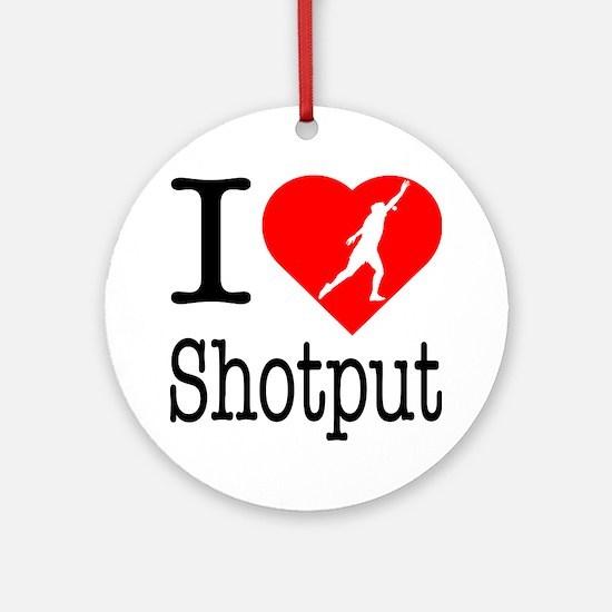 I-Heart-Shotput Round Ornament