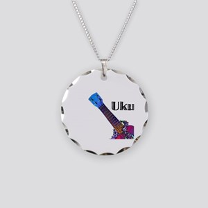 ukulele_lady Necklace Circle Charm