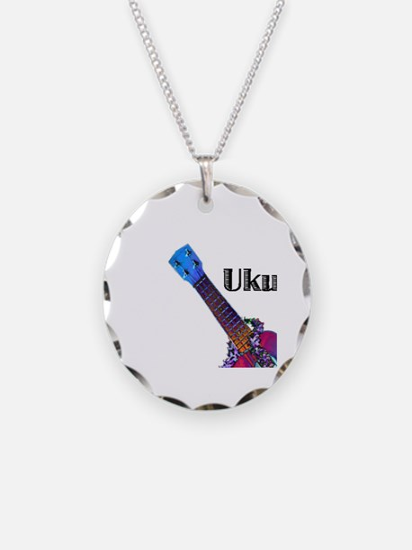 ukulele_lady Necklace Circle Charm