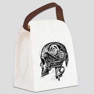 mechskullnobackground Canvas Lunch Bag
