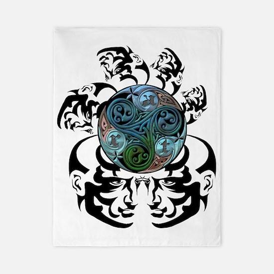 spiralfaces-color Twin Duvet