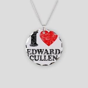 I Love Edward Necklace Circle Charm