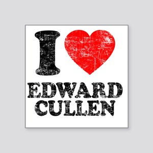 "I Love Edward Square Sticker 3"" x 3"""