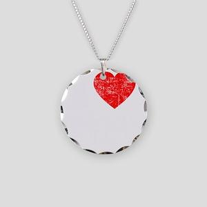 I Love Edward - dk Necklace Circle Charm