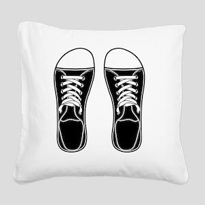 sneaker-bw-FF Square Canvas Pillow