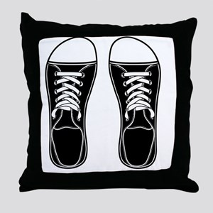 sneaker-bw-FF Throw Pillow
