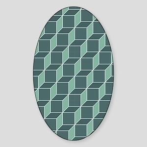 GreenSquarenook Sticker (Oval)