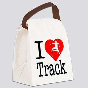 I-Heart-Track Canvas Lunch Bag