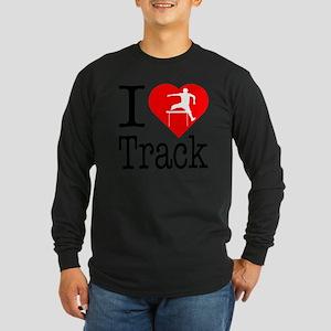 I-Heart-Track Long Sleeve Dark T-Shirt