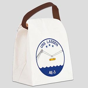 AE-3 USS Lassen Ammunition Ship M Canvas Lunch Bag