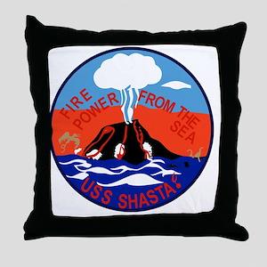 AE-33 USS Shasta Ammunition Ship Mili Throw Pillow
