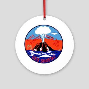 AE-33 USS Shasta Ammunition Ship Mi Round Ornament