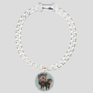 Rottweiler Charm Bracelet, One Charm